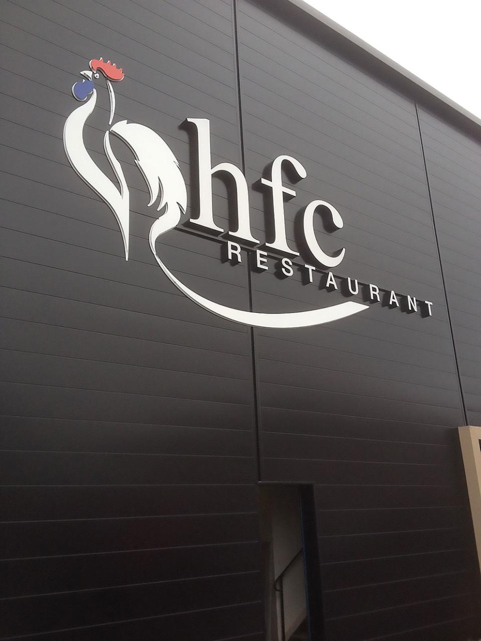 Enseigne pour HFC Restaurant