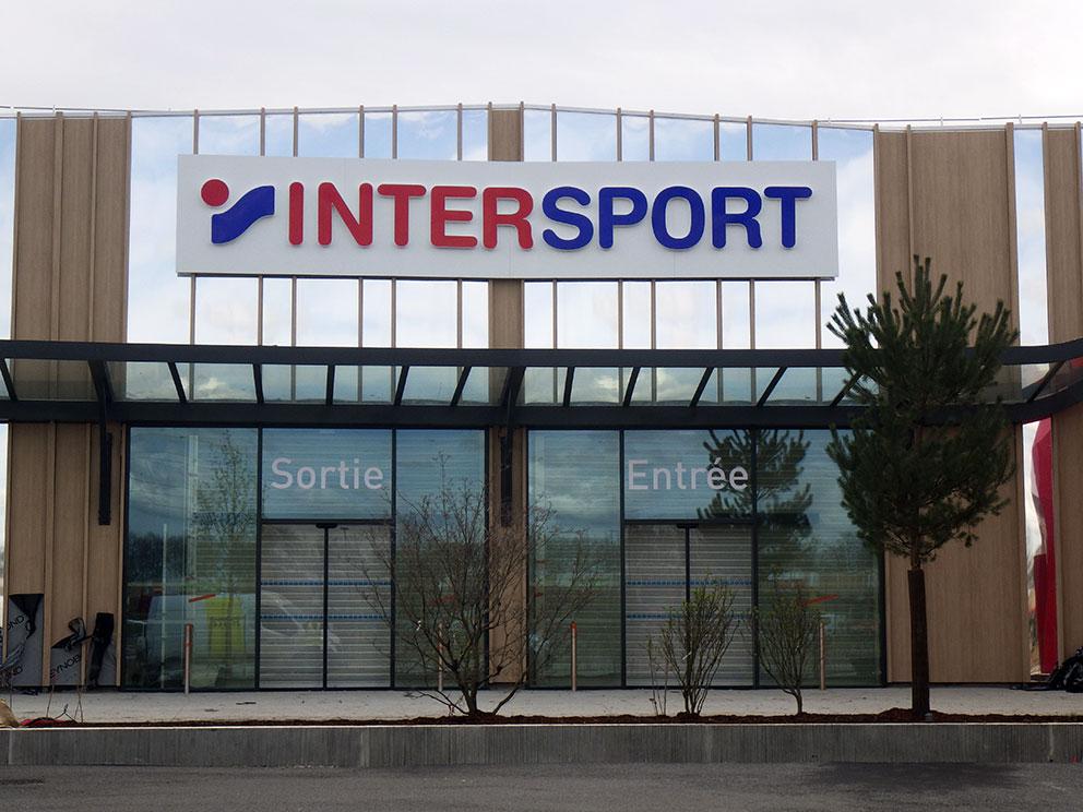 Enseigne pour Intersport
