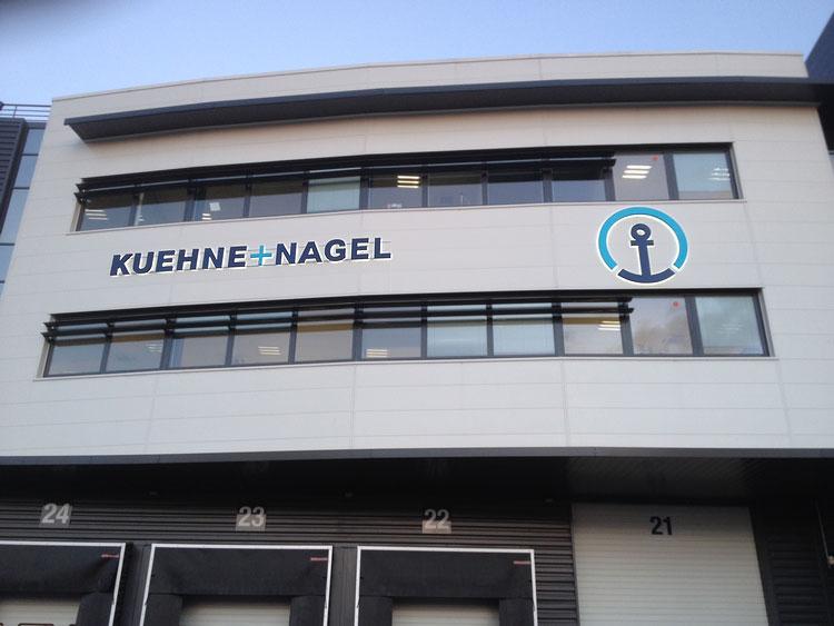 Enseigne pour Kuehne + Nagel